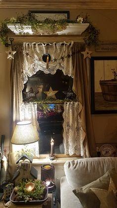More doilie curtains!