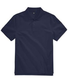 Club Room Men's Anson Pique Polo, Only at Macy's - Blue XXL