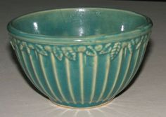 McCoy 1920's Green Pottery Mixing Bowl