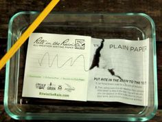 Rite in the Rain All-Weather Writing Paper versus regular paper - 30 seconds under water. See for yourself.. It works!