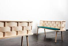 anders engholm kristensen e sarah cramer, banco bendy, teka furniture exihibition | stockholm design week 2014