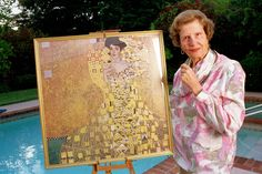 -The late Maria Altmann with her family painting;  Portrait of Adele Bloch-Bauer I (also called The Woman in Gold) is a 1907 painting by Gustav Klimt. -Photo courtesy of Randol Schoenberg