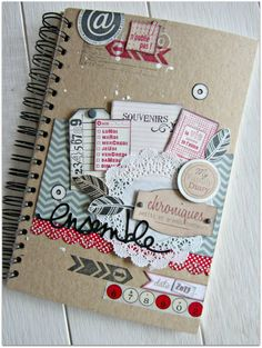 Family diary Swirlcards Florilèges Design Scrapophile