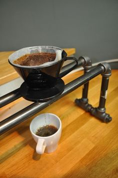 Steel Pipe Pourover Coffee Station