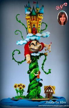 "SO cool...My Fave Tower Cake Ever - ""Juan y los frijoles mágicos"" - Cake by Natalia Da Silva Carmona"