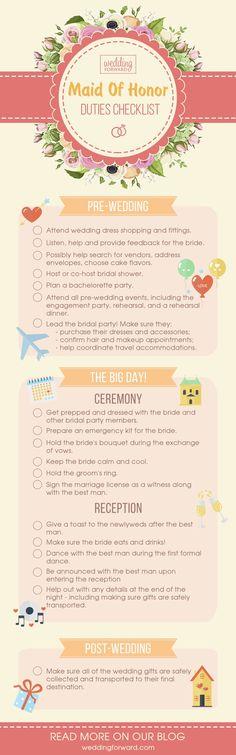 Essential Bridesmaid Duties Andamp; Responsibilities ❤ See more: http://www.weddingforward.com/bridesmaid-duties-responsibilities/ #weddings