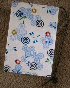 ハンドメイド 文庫本ブックカバー 和風和柄 とんぼと家紋 Handmade book cover ¥500yen 〆04月01日