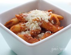 Penne alla Vodka sauce.  I would make this with fat free half and half.  Looks amazing.