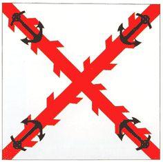 (1717-1808) Bandera de Batallón de Infantería de Marina