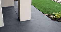 Boral's large range of coloured concretes incorporates all the colours of nature.Our coloured concrete contains a colour enhancer to provide brighter, more durable colours. Concrete Driveways, Colored Concrete Patio, Concrete Color, Outdoor Paving, 100 Acre Wood, Backyard Pool Landscaping, Garden Inspiration, House Design, Courtyards