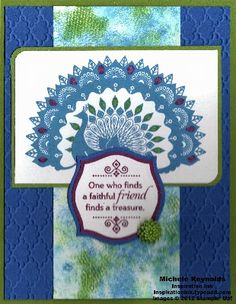 Spritz Daubed Peacock by Michelerey - Cards and Paper Crafts at Splitcoaststampers