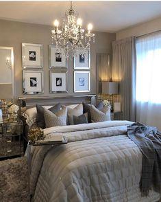 Best 27 Room Decor Bedroom Design Ideas For Your Inspiration Glam Bedroom, Modern Bedroom Decor, Master Bedroom Design, Classy Bedroom Ideas, Bedroom Interiors, Farmhouse Bedroom Decor, Cozy Bedroom, Master Bedrooms, Bedroom Inspo