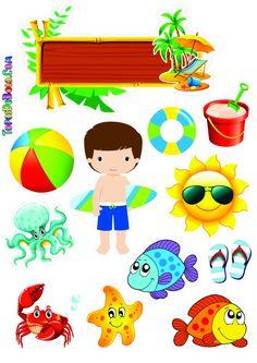 Disney Cupcakes, Pool Party Decorations, Exploding Boxes, Print Templates, Cake Art, Album, Flamingo, Cake Toppers, Decoupage
