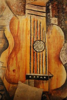 PAINTED PAPER: Picasso's Guitars