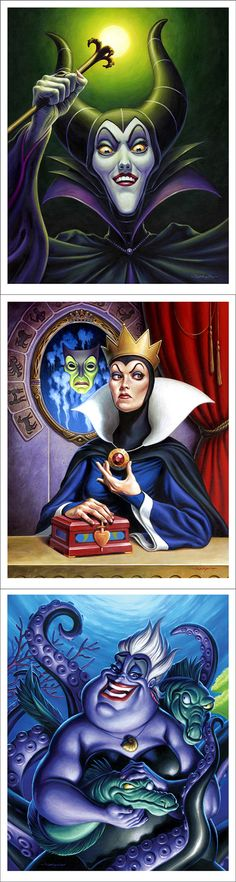 Disney Villains by artist Jason Edmiston
