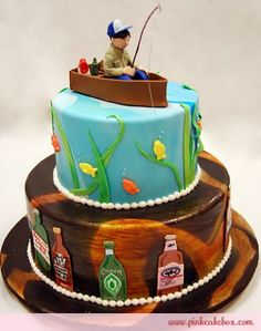 Grooms Cakes » Pink Cake Box Custom