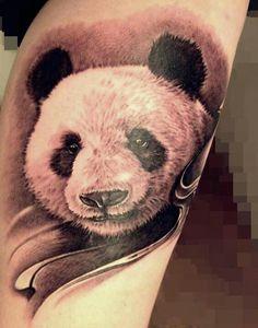 Panda tattoo! Beautiful!!! Love detail of this one! Looks real :)
