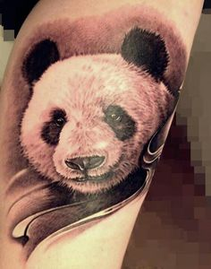 Panda tattoo! Beautiful!!! Love detail of this one! Looks real :)