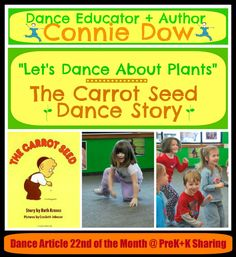 Let's Dance About Plants by Connie Dow at PreK+K Sharing