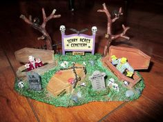 LEMAX SPOOKY TOWN SCARY ACRES CEMETERY  DEPT 56