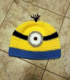 d117408014e7d Minion Crochet Beanie Hat ~ Dly s Hooks and Yarns ~ Minion Crochet  Patterns