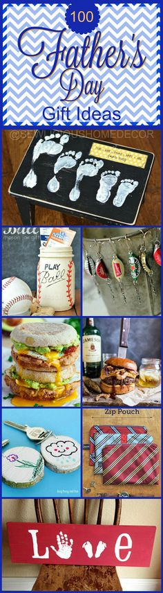 Over 100 Fathers Day Gift Ideas and Recipes at sewlicioushomedecor.com