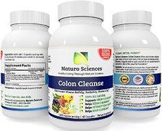 Naturo Sciences - Super Strength Colon Cleanse - Detox the Body and Brain - Master Herbal Cleanse - Fennel Seed - Cascara Sagrada - Ginger - Psyllium Husk - Pumpkin Seed - Buckthorne Root - Licorice Root - Rhubarb - Citrus Pectin - Acidolphilus - Acai - Cape Aloe - Bentonite Clay - Aloe Vera - Cayenne Pepper - Senna - Oat Bran - Prune Extract - Flax Seed - 1800mg Proprietary Blend Per Serving, 30 Servings, 60 Capsules