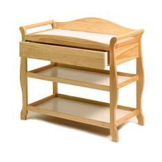 Storkcraft Aspen Changing Table With Drawer Natural