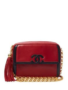 d995764ff37a Bicolor Red   Navy Boarder Lambskin Camera Bag Chanel Jacket