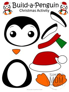 FREE PRINTABLE Christmas Penguin Craft Click now to find a fun Christmas penguin craft to do with your preschool class? Print this penguin template and turn this craft into a Christmas art day! Christmas Crafts For Kids To Make, Preschool Christmas, Christmas Activities, Diy Christmas Ornaments, Crafts To Do, Kids Christmas, Kids Crafts, Preschool Class, Funny Christmas