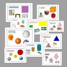 Figuras geométricas. Recursos para imprimir y trabajar con los peques. Fichas para enseñar y reconocer las distintas figuras geométricas