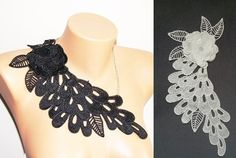 Free Shipping  steampunk Venise Lace Necklace/ by ArtofAccessory