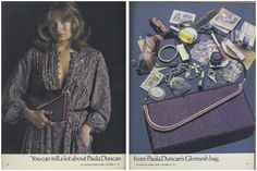You can tell a lot about Paula Duncan from Paula Duncan's Glomesh bag. Mesh Bags, Teenage Years, My Childhood, Bag Accessories, Nostalgia, Louis Vuitton, Ads, Tote Bag, Celebrities