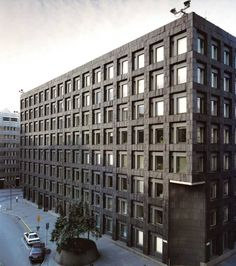The headquarters of the Swedish Central Bank in Stockholm, Peter Celsing, 1976