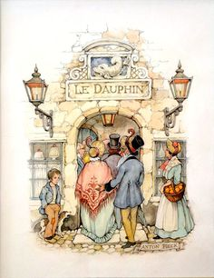 Coloring for adults - Kleuren voor volwassenen Colouring Pages, Adult Coloring Pages, Coloring Books, Art Magique, Anton Pieck, Image 3d, Dutch Painters, Dutch Artists, Children's Book Illustration