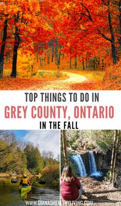Are you looking for the perfect Fall Getaways in Ontario, Canada? Grey County, Ontario is a two hour Alberta Canada, Canadian Travel, Canadian Rockies, Cool Places To Visit, Places To Go, Ontario Travel, Canada Destinations, Best Weekend Getaways, Visit Canada
