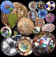 Assorted Antique & Collectible Buttons ~ R C Larner Buttons at eBay http://stores.ebay.com/RC-LARNER-BUTTONS