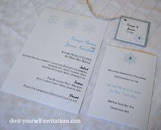 Printable Snowflake Wedding Invitation Template Kit