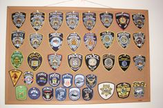 My personal collection of NYC Police agency patches. It is far from complete!