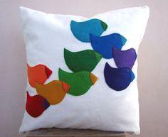 felt bird pillow