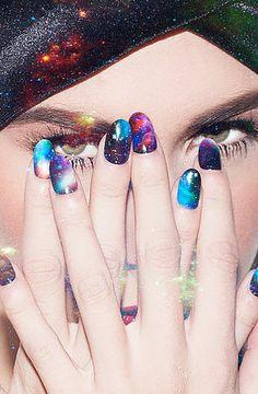 The NCLA x Nailing Hollywood Stephanie's Galaxy Nail Wrap