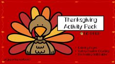 Thanksgiving activity pack Turkey Feathers, Thanksgiving Activities, Fun Crafts For Kids, Infant Activities, Kid Friendly Meals, Parenting Hacks, Yoga Pants, Coloring Pages, Encouragement