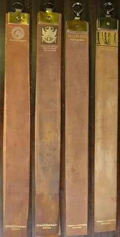 Traditional Cordovan Leather from Cordoba, Spain, Horween razor straps Straight Razor Shaving, Shaving Razor, Wet Shaving, Shaving & Grooming, Men's Grooming, Razor Strop, Barber Equipment, Beard Barber, Shaved Hair Cuts