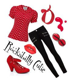 """Rockabilly Cutie"" by cyndie-hoffman-klorer on Polyvore featuring Paige Denim, Lime Crime and Retrò"