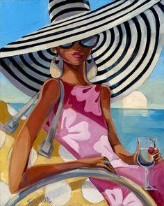 Summer Girl 1 Giclée Print on Canvas