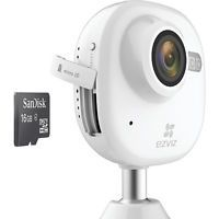 EZViz 1080p Wi-Fi Indoor Camera with 16GB microSD Card White - EZViz Smart Home Automation