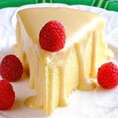 Japanese Cheesecake with Ginger White Chocolate Ganache