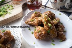 Paleo Honey-Soy Garlic Glazed Wings. 1 hour + 5 easy ingredients is all you need to make these crispy, baked Asian-inspired sticky wings, great for a crowd.