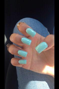 long light blue acrylic nails!