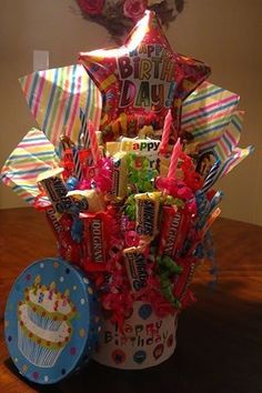 DYI.craft.projects: 7 Step Dollar Tree Candy Bouquet